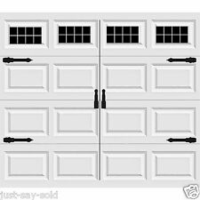 Craftsman's Style Vinyl Garage Door Decal Kit Faux Windows & Hardware Version 3