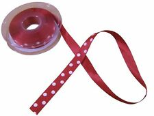 Classic Red White Polka Dot Ribbon 15mm *4 Lengths*