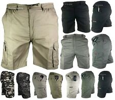 NEW Mens Mian Shorts Cargo Combat Multi Pocket Elasticated Cotton Shorts M-6XL