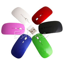 Thin USB Wireless Optical Mouse 2.4GHz Super Slim Mouse for Apple PC MacBook