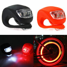 Silicone Bike Bicycle Cycling Head Front Rear Wheel LED Flash Light Lamp BUY UP