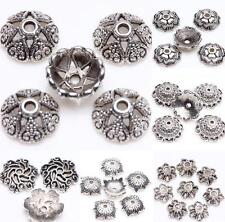 Hot Tibetan Silver Loose Spacer Bead Flower Caps Jewelry Making Finding DIY