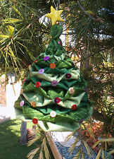 3D FABRIC HANGING CHRISTMAS TREE DECORATIONS