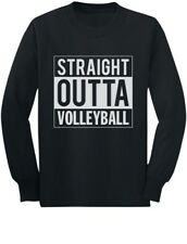 Straight Outta Volleyball Youth Kids Long Sleeve T-Shirt Gift Idea