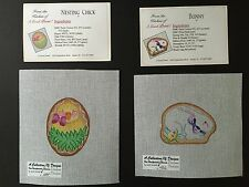 A Good Point! Hand-painted Needlepoint Canvases Easter/Spring Cookie Ornaments