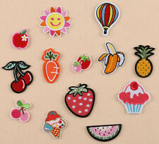 Pineapple cherry strawberry cake carrots embroidered patch iron/sew on badge DIY