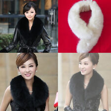 Elegant Women Girl Winter Faux fox Fur Fluffy Scarf  Collar Neck Fur Collar