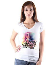 Lana Del Rey Graphic V-Neck T-Shirt Fruit Of The Loom Tee Woman White Size S-XXl