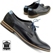 Mens Genuine Cow Leather Oxford Formal Casual Office Shoes 100% Made in Europe