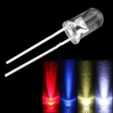 50Pcs  5mm White Red Blue Warm White Purple Light Bulb Emitting Diode LED Lamp