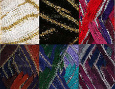 KFI Broadway Metallic Ruffle Scarf Trim Yarn 100g Color Choice Knit Crochet FS