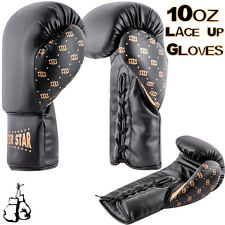 Boxing Gloves Punch MMA Martial Arts Rex Leather Laces Bag Mitts Kick Training