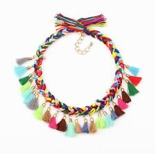 cotton necklace rope braided tassel pendant choker women necklace jewelry 2016