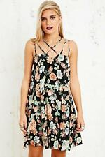 URBAN OUTFITTERS PINS & NEEDLES FLORAL DRESS SIZE XS S M SUN BLACK 8 10 12 14