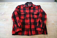 Men's Vintage Woolrich Red Plaid Wool Button Down Shirt Size 35