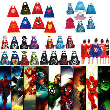 Superman Capes + Mask Kids Fancy Dress Costume Halloween Christmas Party Cosplay