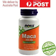 Cheap! Now Foods Maca 500mg 100 or 200 Caps for Reproductive Sexual Well-Being
