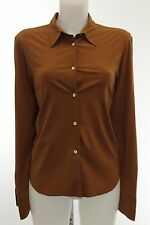 Jil Sander Brown Long Sleeve Button Down Shirt Size 40/6