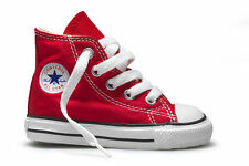 Converse Star Hi Top Red White Infant Toddler Boys Girls Shoes Size 3-10