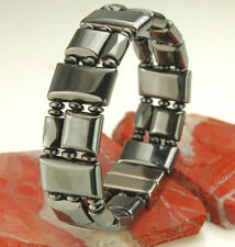 Men's Women's  Magnetic Hematite Triple Power Bracelet Necklace Free shipping