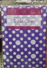 POLKA DOT TABLE COVER PLASTIC PARTY TABLE COVERS CLOTH EASY WIPE REUSABLE