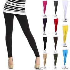Seamless Basic Full Length Long Spandex Leggings Skinny  VARIOUS COLORS