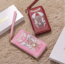 Anime Collection Cartoon CardCaptor Sakura PU Wallet Sailor Moon Purse Organizer