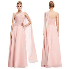Womens Formal Evening Party Chiffon One Shoulder Maxi Dress Bridesmaid Gown 4-18