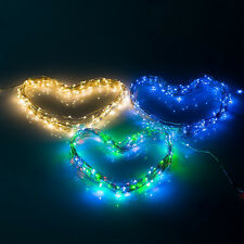 2 Modes Steady On & Flash 150 LED 15m Solar Powered Decoration String Lights