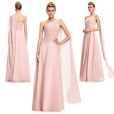 Womens Sexy One Shoulder Chiffon Dress Long Formal Evening Gowns Party Prom