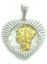 Coin Charms .925 Sterling Silver with coins