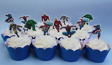 Marvel Super Heroes edible wafer Cupcake Cake Toppers Birthday thor