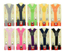 Babies, Boys, and Girls Clip-on Y-Back Children Elastic Suspenders 10 Colors