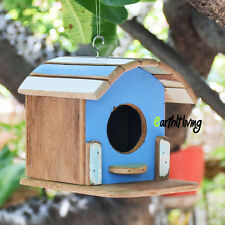 Vintage Train head design reclaimed wood Small Hanging Birdhouse