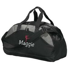 Gymnastics Duffel Bag. Personalized Gym Bag. Embroidered Duffle Bag. Gym2 BG1070