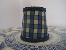 Pierre Deux Lamp Shade Blue Cream Check French Country Toile Chandelier