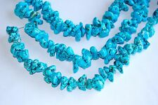 Blue Magnesite Turquoise Nugget Loose Beads 15.5'' Long Per Strand