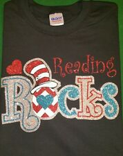 Reading Rocks Cat in the Hat Personalized Teacher Adult sizes DR. SUESS t shirt