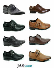 MENS FAUX LEATHER SHOES SMART WEDDING ITALIAN FORMAL DRESS OFFICE BOYS SHOE SIZE
