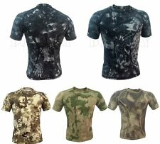 Quick-drying Tactical Hunting Men's T-Shirts Wicking Short Sleeve Skin Tight