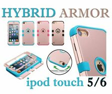 iPod Touch 5th / 6th Gen - Shockproof Hard&Soft Rubber Hybrid RUgged Case Cover