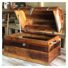 NEW WOODEN RUSTIC TREASURE CHEST - BEAUTIFULLY HAND MADE - DELIVERY AVAIALBLE