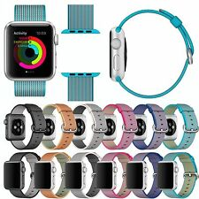 Sports Release Royal Woven Nylon Wrist Band Strap for Apple Watch iWatct 38/42mm