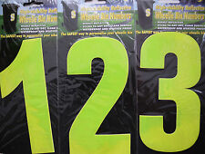 High Visibility reflective Wheelie Bin Numbers - First Class Delivery