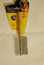 METAL PET CAT DOG DOUBLE SIDED BRUSH COMB PROFESSIONAL GROOMING HAIR FUR PINS