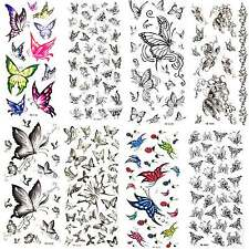 Black Butterfly Temporary Tattoos Waterproof Anti-perspiration eye hand Party