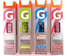 10 packs (60 chews) GATORADE  Prime Energy Chews FLAVOR CHOCES PICK ONE