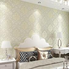 4 Colors Choose Victorian Damask/Embossed Textured Wallpaper Roll Hot Sale