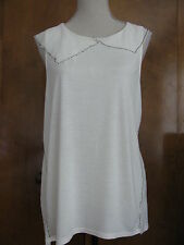 New w/tags Anthropologie Deletta ivory women's blouse top Size Medium,Large