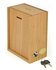 My Charity Boxes -  Wooden  Wall Donation Box Suggestion Box With Lock & 2 Key's